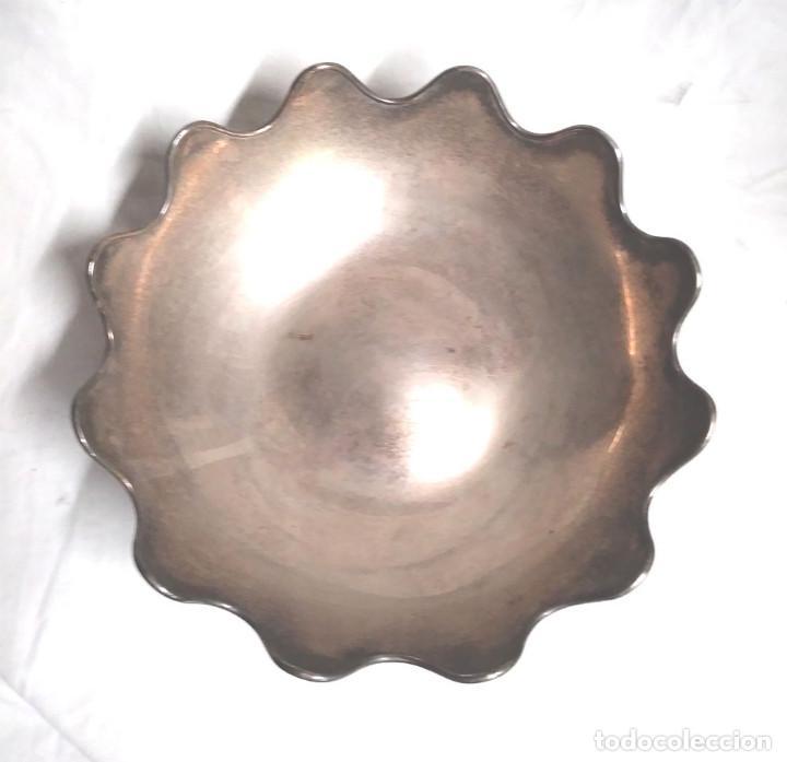 Antigüedades: Bandeja baño de Plata, con pedreria, buen estado. Med. 26 x 9 cm - Foto 3 - 139492002