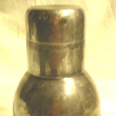 Antigüedades: LICORERA O PETACA PUNZONADA MENESES MADRID. MED. 10 X 18 CM. Lote 139492258