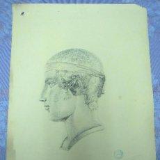 Antigüedades: RETRATO DIBUJO AL CARBON 1931, GIRONA. Lote 139519514