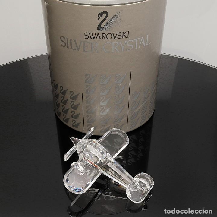 SWAROVSKI AVIONETA ORIGINAL CON ESTUCHE Y DOCUMENTACIÓN (Antigüedades - Cristal y Vidrio - Swarovski)