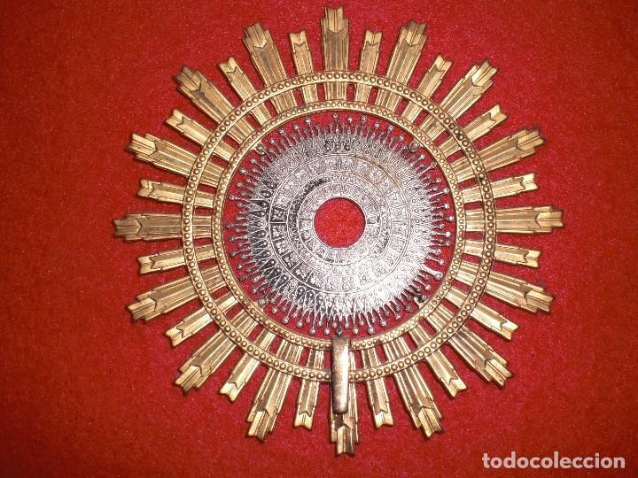 Antigüedades: VIRGEN DEL PILAR EN PLATA ANTIGUA Y MARMOL 24 CM. DE ALTURA - Foto 7 - 139552382