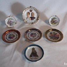 Antigüedades: LOTE DE 7 PLATITOS DE DECORACIÓN DE PORCELANA, 6 CON SELLOS, 2 LIMOGES. Lote 143755090