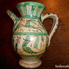 Antigüedades: PRECIOSA JARRA DE CERÁMICA DE PUNTER, TERUEL, MODELO MUDÉJAR CON PICO -TETERA-. Lote 139573454