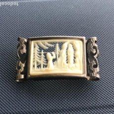 Antigüedades: BROCHE DE AGUJA DE PLATA DE LA VIRGEN DE FÁTIMA. VER FOTOS.. Lote 139582290