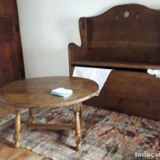 Antigüedades: BANCO BAÚL EN ROBLE. Lote 139583534