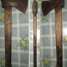 Antigüedades: HACHA BELLOTA 8130-600 CON ASTIL ORIGINAL MIDE EL PALO 42 CM. LA CABEZA 19/9,5 CM.. Lote 139587646