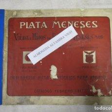 Antigüedades: PLATA MENESES 1917. BELLO Y COMPLETO CATALOGO GENERAL OBJETOS HOGAR DECORACION SUNTUARIOS, ETC.. Lote 139588926