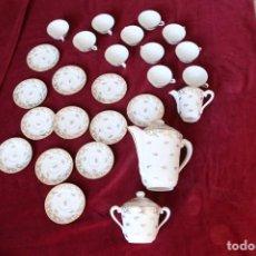 Antigüedades: JUEGO DE CAFÉ LIMOGES.. Lote 139608778