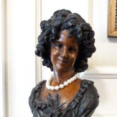 Antiques - figura busto de mujer con bastantes años de antiguedad - 112953519