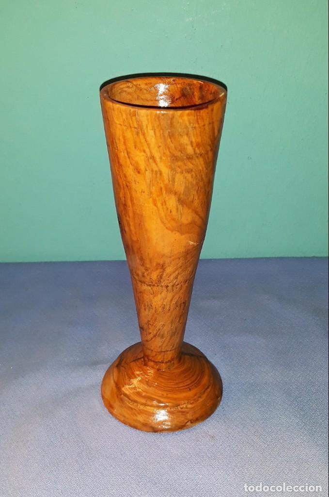ANTIGUA COPA DE MADERA DE OLIVO VER FOTOS Y DESCRIPCION (Antigüedades - Hogar y Decoración - Copas Antiguas)