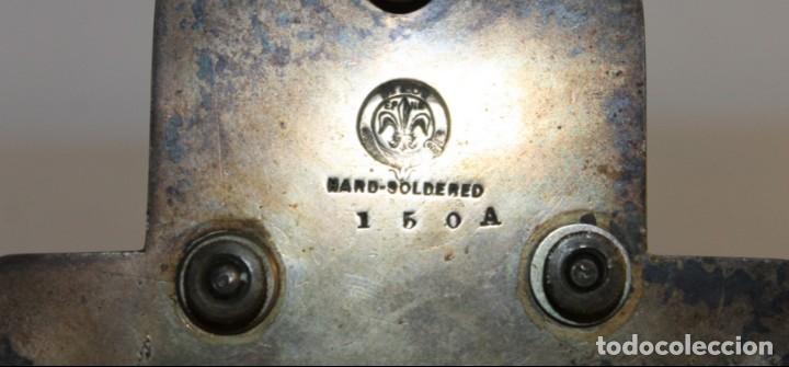 Antigüedades: ESPECIEROS EN CRISTAL CON BASE EN METAL PLATEADO DN & CO - ETIQUETA PHILLIPS - MEDIADOS SIGLO XX - Foto 9 - 139619274