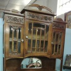 Antigüedades: APARADOR DE MADERA DE ROBLE MACIZO EN BUEN ESTADO. Lote 139624590
