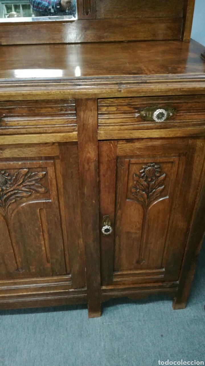 Antigüedades: Aparador de madera de roble macizo en buen estado - Foto 4 - 139624590