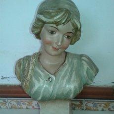 Antigüedades: ANTIGUA FIGURA ART DECOR AÑOS 20 TERRACOTA. Lote 139629908