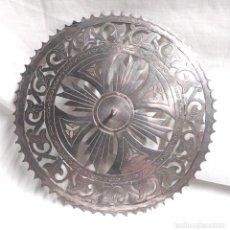 Antigüedades: CORONA AUREOLA PARA SANTO CALADA BAÑO DE PLATA. MED. 12 CM. Lote 139633630