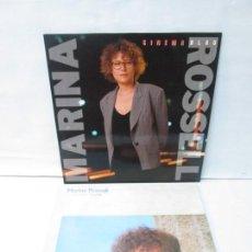 Discos de vinilo: MARINA ROSSELL. CINEMA BLAU. COS MEU, RECORDA. LP VINILO. 2 DISCOS. CBS. 1982/1990. VER FOTOS. Lote 139646054