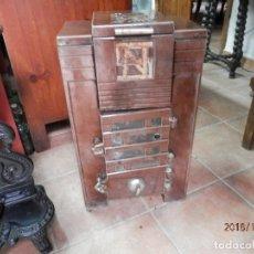 Antigüedades: ESTUFA HIERRO Y CERÁMICA FRANCESA. Lote 139650662