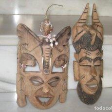 Antigüedades: LOTE DE 2 MÁSCARAS AFRICANAS . Lote 139657370