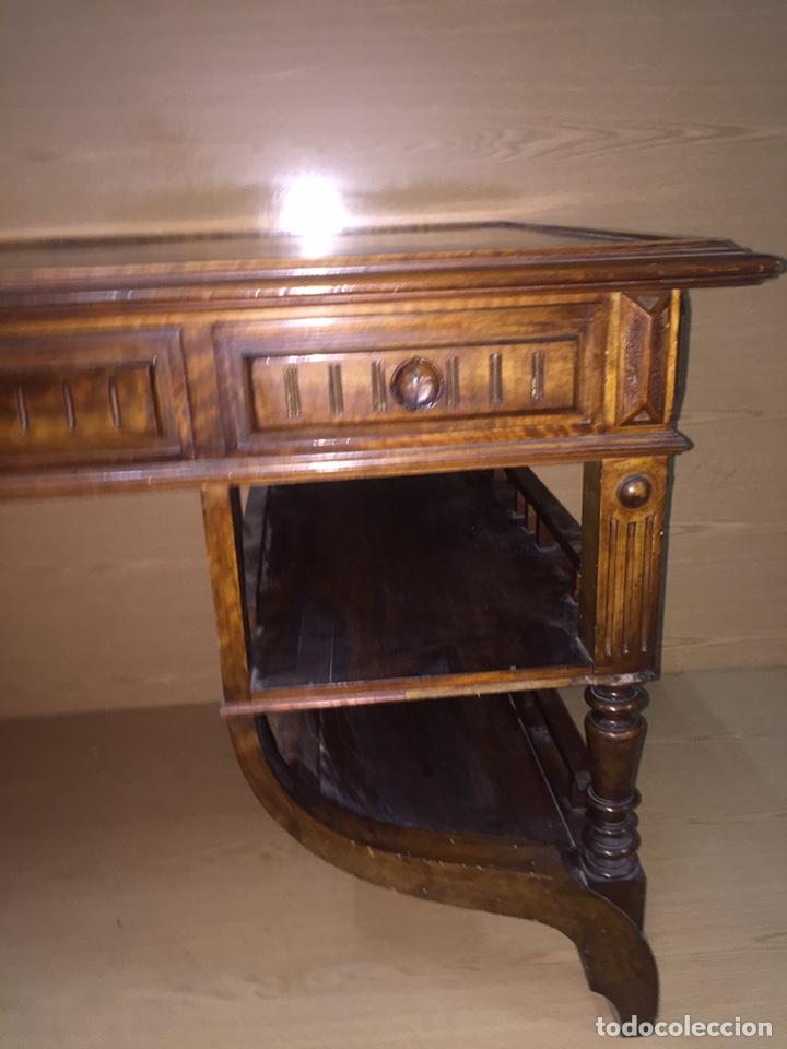 Antigüedades: Mesa despacho madera - Foto 3 - 139668877