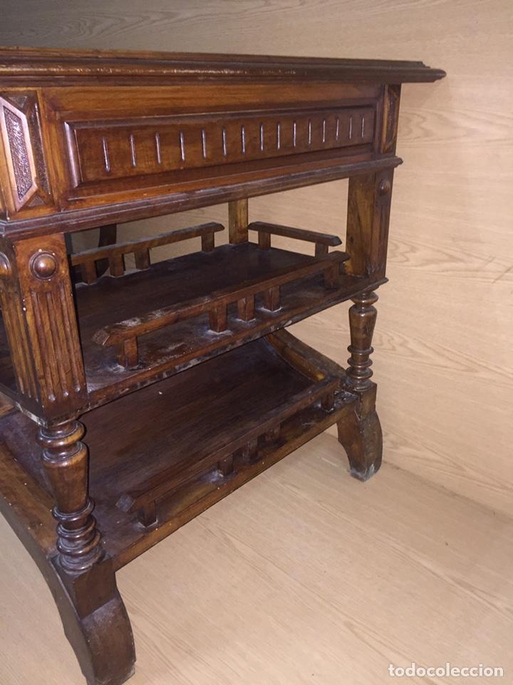 Antigüedades: Mesa despacho madera - Foto 4 - 139668877