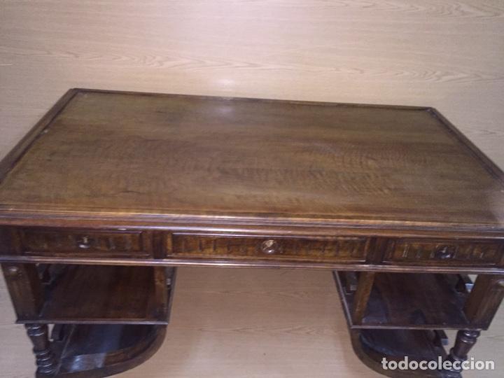 Antigüedades: Mesa despacho madera - Foto 5 - 139668877