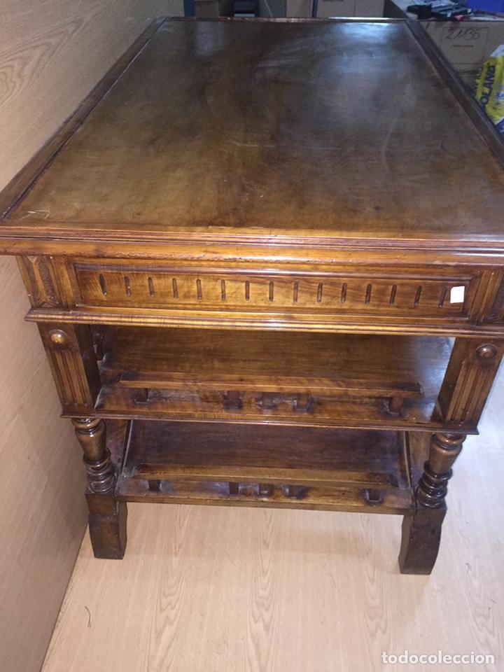 Antigüedades: Mesa despacho madera - Foto 6 - 139668877
