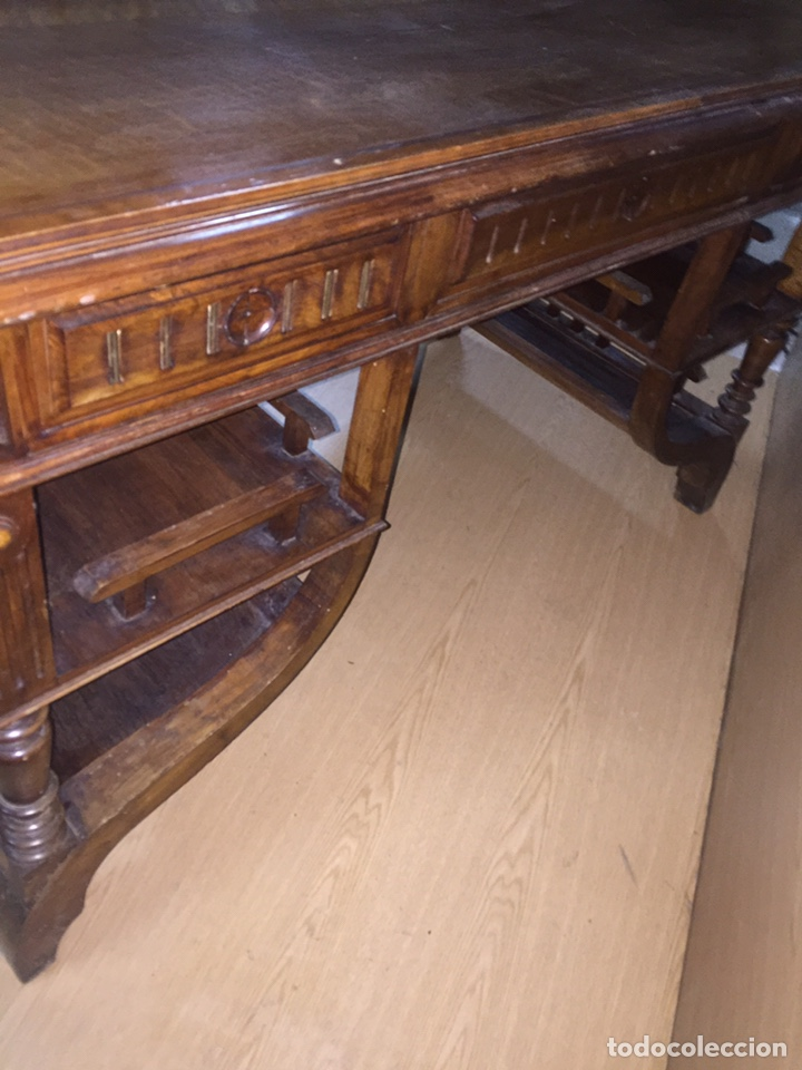 Antigüedades: Mesa despacho madera - Foto 10 - 139668877