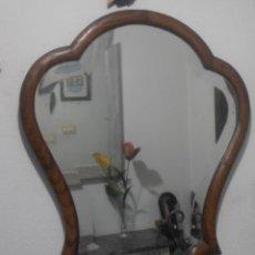 Antiguidades: ESPEJO BISELADO DE CASTAÑO,. Lote 139672110