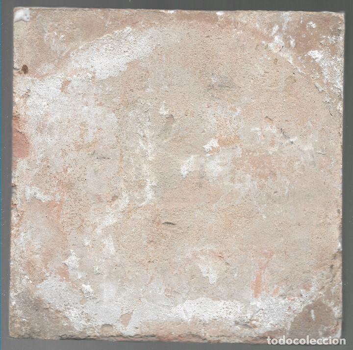Antigüedades: LADRILLO, BALDOSA, RACHOLA O AZULEJO. CAZADOR (2), ORIGINAL, SIGLO XIX O ANTERIOR, 20 X 20 CM. - Foto 2 - 139685594