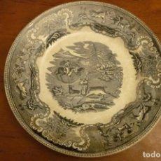 Antigüedades: PLATO SERIE CAZA, 22 CMS, SIN TARAS. Lote 139693486