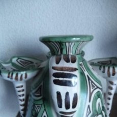 Antigüedades: DIFICIL UTENSILIO DE TRES BOCAS, JARRA? PUNTER- TERUEL 20 ANCHO, 15 CMS. ALTO.. Lote 139694522