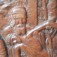 Antigüedades: RETABLO TALLA MADERA EL DESCENDIMIENTO DE LA CRUZ DE ROGIER VAN DER WEYDEN REALIZADO POR R. PICANYOL. Lote 139697802