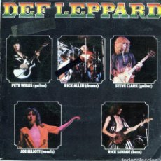 Discos de vinilo: DEF LEPPARD / WASTED / HELLO AMERICA (SINGLE 1980). Lote 139709862