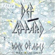 Discos de vinilo: DEF LEPPARD / EL ROCK DE LAS EDADES / ACTION! NOT WORDS (SINGLE 1983). Lote 139710098