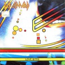 Discos de vinilo: DEF LEPPARD / LOVE BITES / I WANNA BE YOUR HERO (SINGLE 1987). Lote 139710222