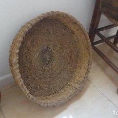 Antigüedades: ANTIGUO CAPAZO.CESTA EN ESPARTO COSIDO.SIGLO XX. Lote 139713462