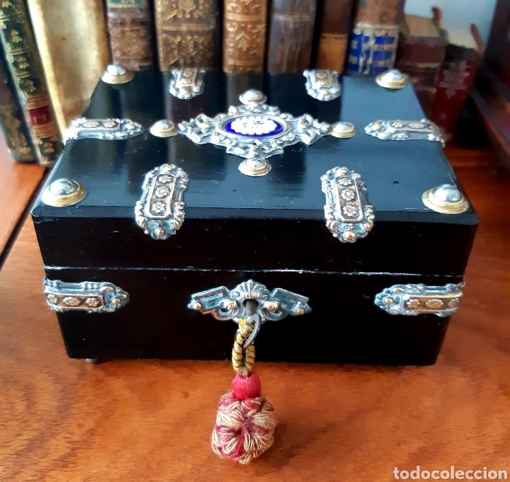 Antigüedades: Caja francesa estilo Napoleon III. Siglo XIX - Foto 2 - 139732340