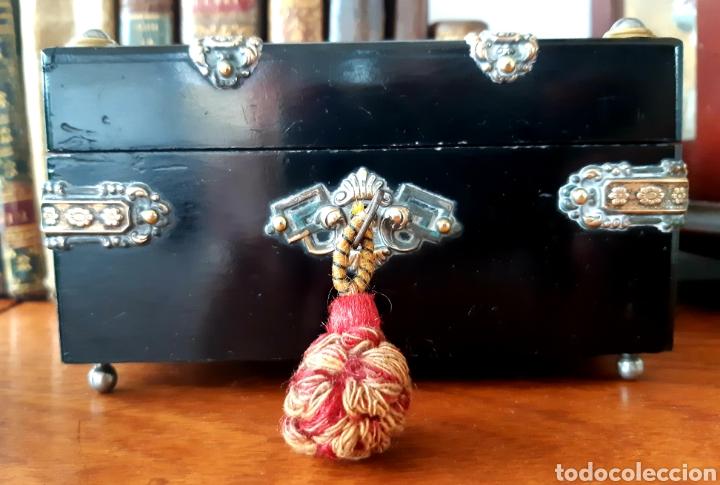 Antigüedades: Caja francesa estilo Napoleon III. Siglo XIX - Foto 5 - 139732340