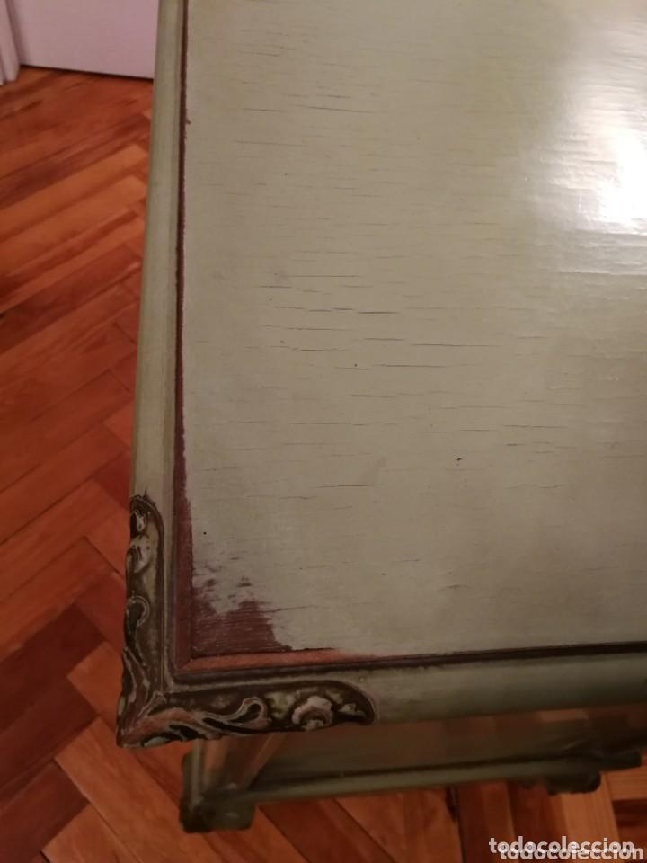 Antigüedades: Cómoda pintada a mano estilo francés principios s.xx - Foto 7 - 173004097