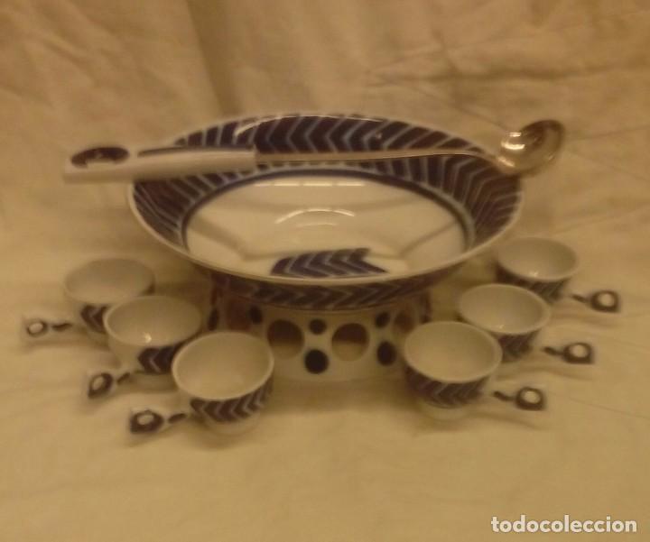 JUEGO PARA QUEIMADA DE PORCELANA DE SARGADELOS (Antigüedades - Porcelanas y Cerámicas - Sargadelos)