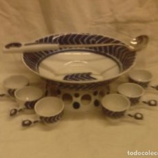 Antiquitäten - Juego para queimada de porcelana de Sargadelos - 139739690