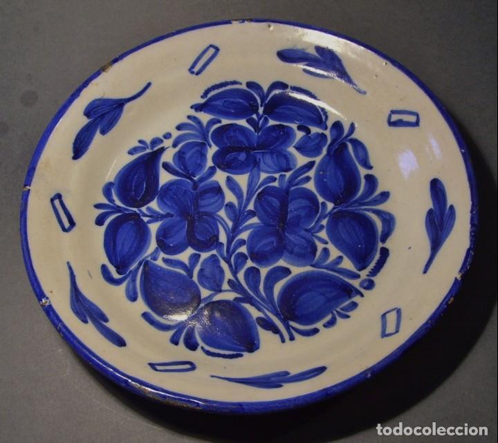 PLATO CERÁMICA DE MANISES XIX (Antigüedades - Porcelanas y Cerámicas - Manises)