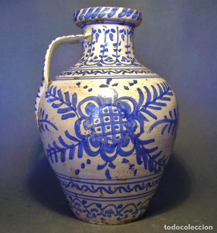 GRAN JARRÓN CERÁMICA DE TALAVERA XIX (Antigüedades - Porcelanas y Cerámicas - Talavera)