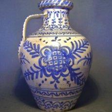 Antigüedades: GRAN JARRÓN CERÁMICA DE TALAVERA XIX. Lote 139744194