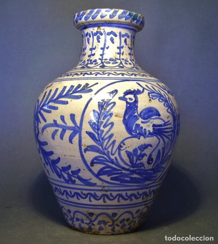 Antigüedades: GRAN JARRÓN CERÁMICA DE TALAVERA XIX - Foto 2 - 139744194