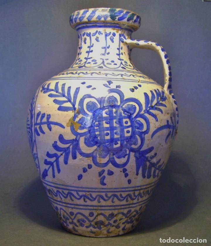 Antigüedades: GRAN JARRÓN CERÁMICA DE TALAVERA XIX - Foto 3 - 139744194