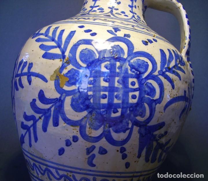 Antigüedades: GRAN JARRÓN CERÁMICA DE TALAVERA XIX - Foto 4 - 139744194