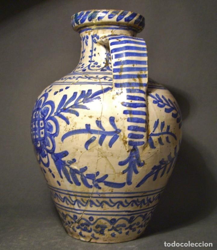 Antigüedades: GRAN JARRÓN CERÁMICA DE TALAVERA XIX - Foto 7 - 139744194