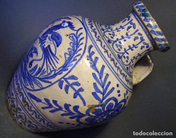 Antigüedades: GRAN JARRÓN CERÁMICA DE TALAVERA XIX - Foto 9 - 139744194