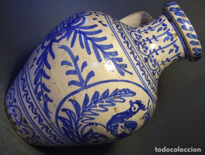 Antigüedades: GRAN JARRÓN CERÁMICA DE TALAVERA XIX - Foto 10 - 139744194